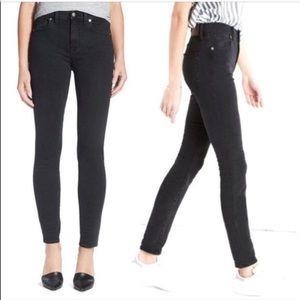 "Madewell 8"" Skinny Skinny Faded Black Jeans"